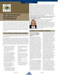 The International Association of GeoChemistry - Elements