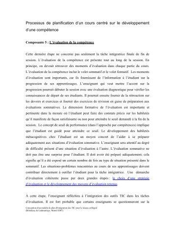 L'évaluation de la compétence - profweb .: le carrefour des ...