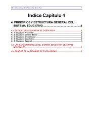 4. Principios y estructura general del Sistema Educativo. - OEI