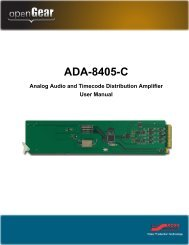ADA-8405-C User Manual - Ross Video