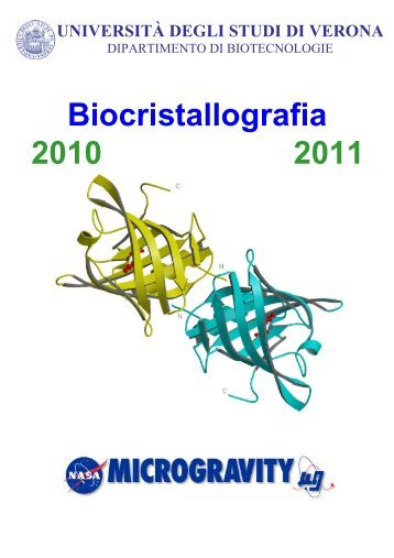 Dispense di Biocristallografia (pdf, it, 818 KB, 3/7/11)