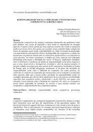 responsabilidade social e fidelidade: um estudo para cooperativas ...