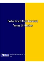 Election Security Threat Assessment Towards 2015 Elections