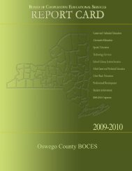 State Testing Programs for All Component Districts - Oswego County ...