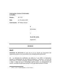 X c. Ville de Laval - Commission d'accès à l'information du Québec