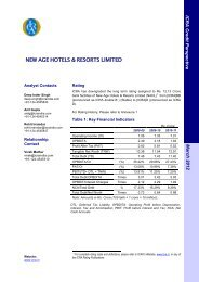 NEW AGE HOTELS & RESORTS LIMITED - ICRA
