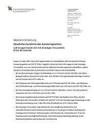 Medienmitteilung - Liechtensteinische Landesbank