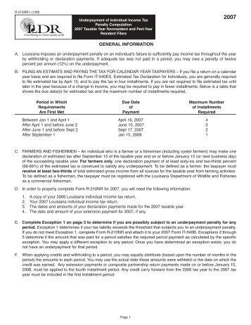 GENERAL INFORMATION - Louisiana Department of Revenue