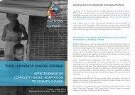 Third bi-monthly Knowledge Sharing & Learning Seminar - Regional ...