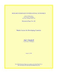 Market Access for Developing Countries - Gerald R. Ford School of ...