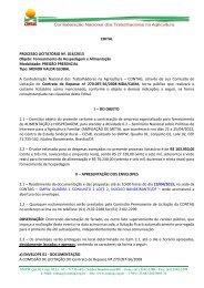 Edital 016/2013 Pregão Presencial - Hospedagem e ... - Contag