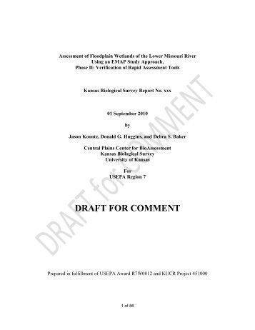 draft for comment - Central Plains Center for BioAssessment - The ...