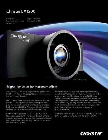Christie LX1200 Datasheet - Christie Digital Systems