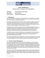 Terms of Reference - United Nations Volunteers