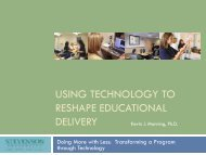 USING TECHNOLOGY TO RESHAPE EDUCATIONAL DELIVERY