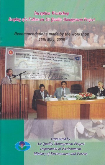 Inception Workshop Scoping of a Follow-on Air Quality ... - CASE