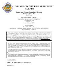 Budget and Finance Committee Meeting - Orange County Fire ...