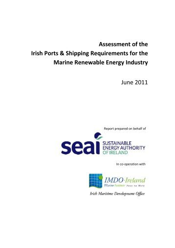 Irish Shipping and Ports Requirements for the Ocean Energy Industry
