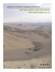austin & tonopah ranger districts - USDA Forest Service