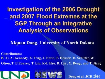 Dong - NEWS (The NASA Energy and Water cycle Study)