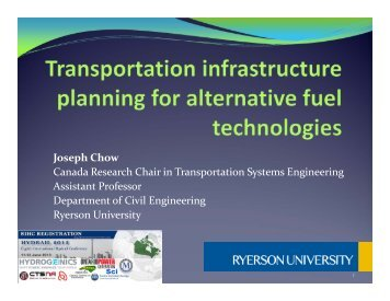"Dr. Joseph Chow, Ryerson Engineering ""Sustainable Rail ..."