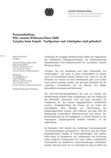 (2013-03-07 PM Weltfrauentag (2).pdf) - Widmann-Mauz, Annette