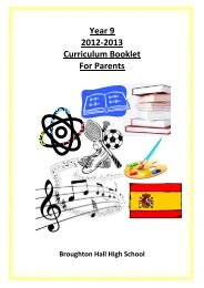 Year 9 2012-2013 Curriculum Booklet For Parents - Broughton Hall ...