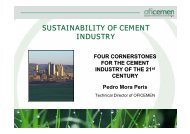 SUSTAINABILITY OF CEMENT INDUSTRY