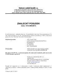 ZNALECKÝ POSUDEK číslo: 7213-885/2013