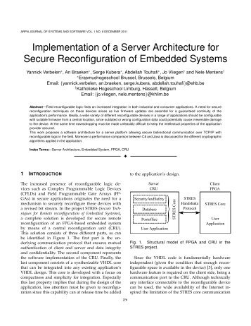 Implementation of a Server Architecture for Secure ... - COSIC