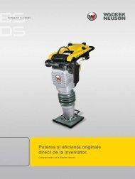 Puterea și eficienţa originale direct de la inventator. - Wacker Neuson