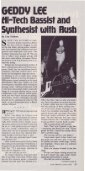 Geddy Lee: Hi-Tech Bassist and Synthesist with ... - Cygnus-X1.Net - Page 2