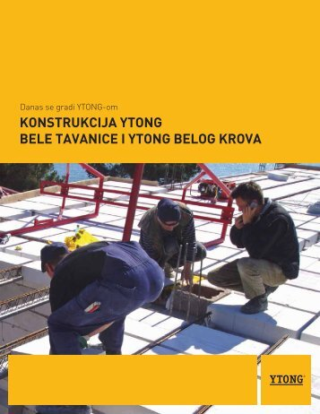 Bela tavanica - Konstrukcija - Ytong