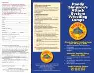 Camp brochures - Randy's Wrestling Site