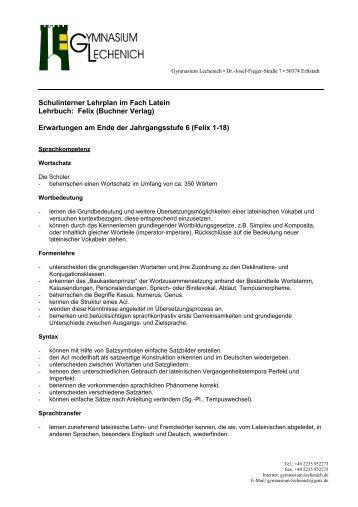 Sekundarstufe I - Gymnasium Lechenich Erftstadt