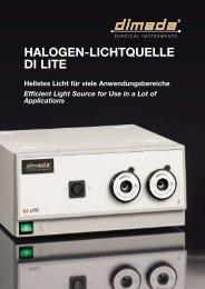 HALOGEN-LICHTQUELLE DI LITE - Dimeda Instrumente GmbH