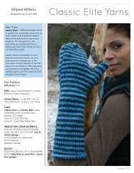 Striped Mittens - Classic Elite Yarns