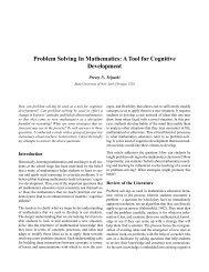Problem Solving In Mathematics - Gnowledge Network!