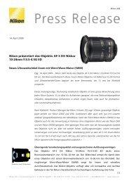 Nikon präsentiert das Objektiv AF-S DX Nikkor 10-24mm f/3.5-4.5G ED