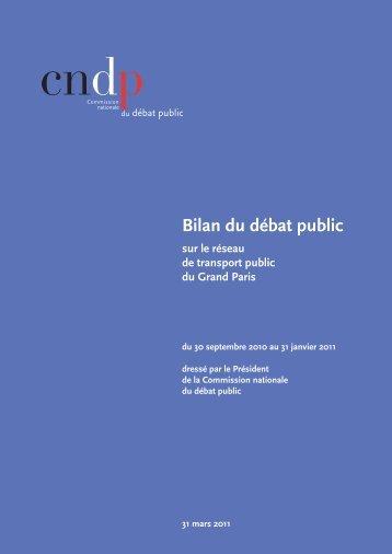 Le bilan - Debat public Grand Paris