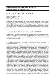 Ata de 26 de Setembro - Universidade Católica de Pelotas