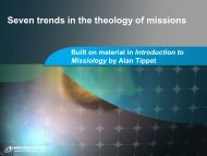 7 trends in the theology of missions