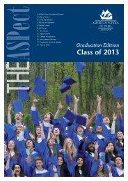 The ASPect Graduation Edition 2013 - American School of Paris