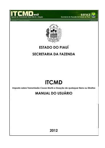 Manual do ITCMD - Bem vindo ao Portal da SEFAZ-PI