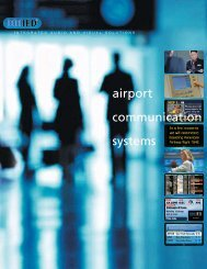 airport communication systems - Innovative Electronic Designs