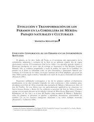 evolución y transformación de los páramos en la ... - Condesan