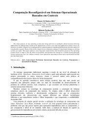 Computação Reconfigurável em Sistemas Operacionais Baseados ...