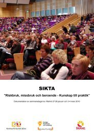 SIKTA dokumentation_web.pdf - Kommunförbundet Skåne