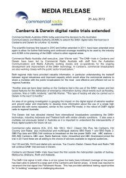 Digital radio trial to begin in Canberra - Commercial Radio Australia
