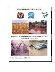 Tanzania National Adaptation Programme of Action - Sokoine ...